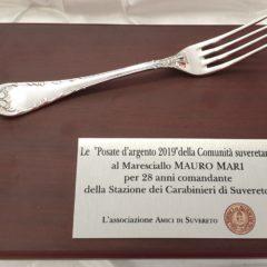 POSATA D'ARGENTO AL MARESCIALLO MARI
